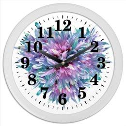 """Часы круглые из пластика """"Акварельное буйство"""" - сердце, цветы, часы, букет, акварельные цветы"""