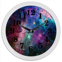 """Часы круглые из пластика """"space"""" - space, космос, часы, новый, расиво"""