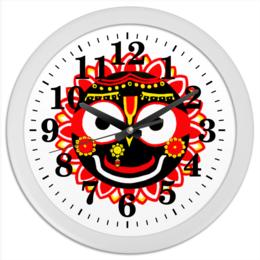 "Часы круглые из пластика """"16 кругов"""" - часы, кришна, сознание кришны, четки, кришнаиты, харе кришна, джаганнатха, махамантра, 16 кругов"