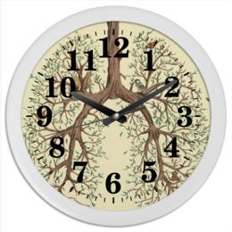 """Часы круглые из пластика """"Легкие"""" - дерево, легкие"""