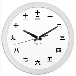 """Часы круглые из пластика """"Nippon """" - страны, япония, japan, география"""