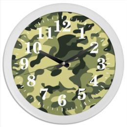 """Часы круглые из пластика """"Камуфляж"""" - армия, камуфляж, милитари, camo"""