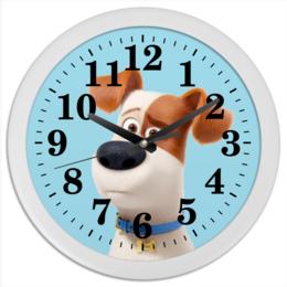 """Часы круглые из пластика """"Макс (Max)"""" - max, макс, тайная жизнь домашних животных, the secret life of pets"""