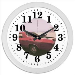 "Часы круглые из пластика ""Detroit ixxx"" - auto, 80s, detroit, стараяшкола, muslecar"