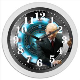 """Часы круглые из пластика """"President (Putin)"""" - фантастика, путин, президент, куранты"""