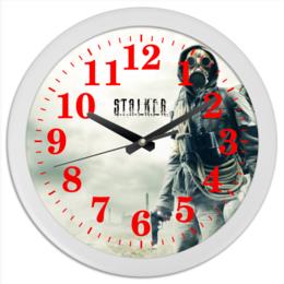 "Часы круглые из пластика ""STALKER"" - сталкер, stalker, чернобль"