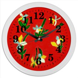 """Часы круглые из пластика """"Весна, весна"""" - любовь, цветы, весна, счастье"""