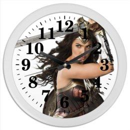"""Часы круглые из пластика """"Чудо-женщина 01"""" - комиксы, женщины"""