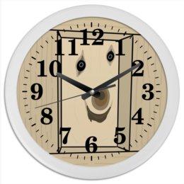 """Часы круглые из пластика """"Дратути"""" - мем, мемы"""