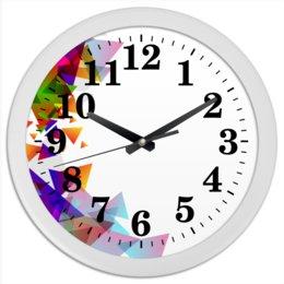 """Часы круглые из пластика """"Оптимистичная абстракция"""" - абстракция, товары для интерьера, оптимистичный, дизайн для оптимистов, интерьерный дизайн"""