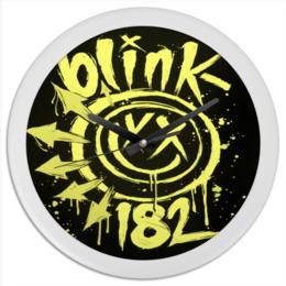 "Часы круглые из пластика ""blink 182 часы"" - blink-182, blink 182, blink182"