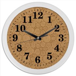 """Часы круглые из пластика """"Древесные"""" - узор, стиль, орнамент, дерево, рсиунок"""