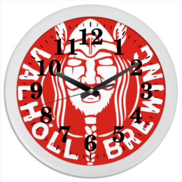 """Часы круглые из пластика """"Время викингов!"""" - викинги, путь воина"""