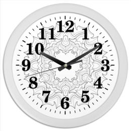 "Часы круглые из пластика ""Mandala"" - арт, мандала"