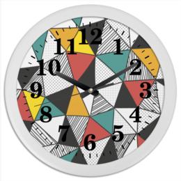 """Часы круглые из пластика """"Абстракция"""" - арт, стиль, абстракция, кубизм, модерн"""