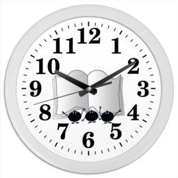 """Часы круглые из пластика """"Хорошо уметь читать"""" - студенты, знания, учеба, чтение, как хорошо уметь читать"""