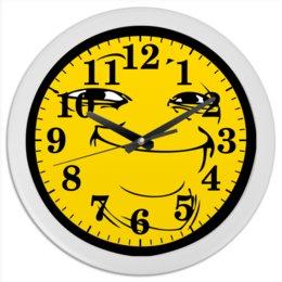 "Часы круглые из пластика ""Йоба-фейс"" - мем, мемы"