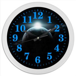 """Часы круглые из пластика """"Вселенная"""" - космос, космический, звезды, вселенная, thespaceway"""
