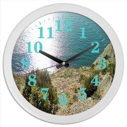 """Часы круглые из пластика """"Анапа."""" - море, природа, фотография, побережье, анапа"""