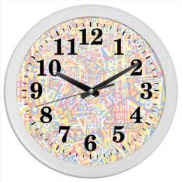 "Часы круглые из пластика ""plppgtysxxx132"" - арт, узор, абстракция, фигуры, текстура"