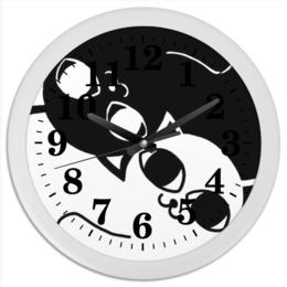 """Часы круглые из пластика """"cat art"""" - арт, дизайн, коты, инь янь, новые"""