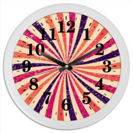 """Часы круглые из пластика """"""""Карнавальные"""""""" - радуга, ретро, винтаж, карнавал"""