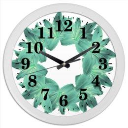 """Часы круглые из пластика """"Цвет морской волны"""" - цветы, часы, букет, декор, венок"""