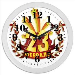 """Часы круглые из пластика """"23  февраля"""" - стиль, россия, путин, во все тяжкие"""