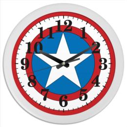 """Часы круглые из пластика """"Marvel"""" - комиксы, крутая, marvel, spider man, марвел, железный человек, iron man, капитан америка, локи, тор"""