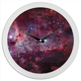 "Часы круглые из пластика ""Часы ""Космос"""" - арт, космос, часы"