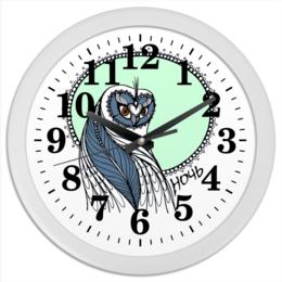 """Часы круглые из пластика """"""""Совушка"""""""" - арт, сова, совушка"""