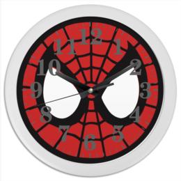 "Часы круглые из пластика ""Spider-man / Человек-паук"" - мультфильм, комиксы, фильмы, spider-man, человек-паук"
