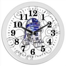 "Часы круглые из пластика ""R2D2 (StarWars)"" - космос, фантастика, звездные войны, r2d2, дроид"
