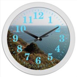 """Часы круглые из пластика """"Анапа."""" - море, пейзаж, побережье, анапа, виды"""