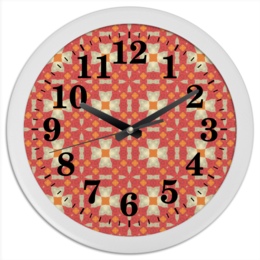 "Часы круглые из пластика ""omrewq4300"" - арт, узор, абстракция, фигуры, текстура"
