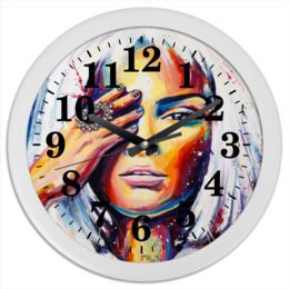 """Часы круглые из пластика """"Синдерелла"""" - арт, рисунок, в подарок"""