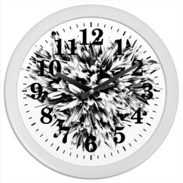 """Часы круглые из пластика """"Черно-белая классика"""" - сердце, цветы, часы, букет, черно-белая графика"""