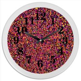 "Часы круглые из пластика ""Карамель."" - арт, узор, абстракция, фигуры, текстура"