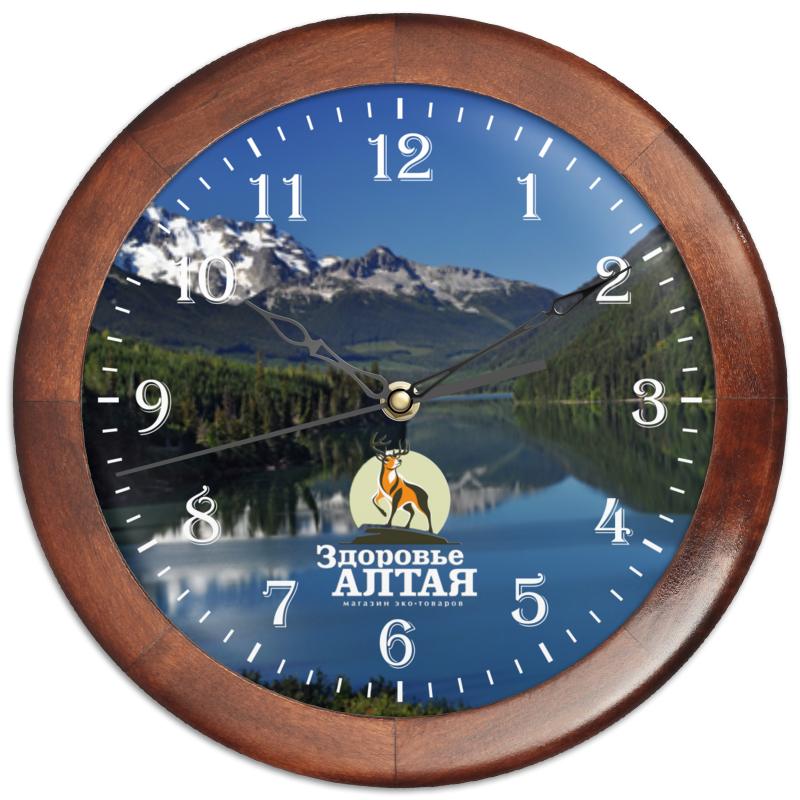 Часы круглые из дерева Printio здоровье алтая часы настенные серые круглые в россии