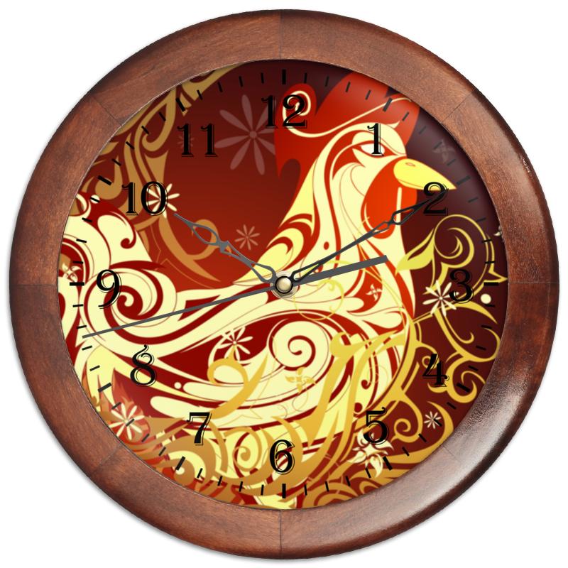 Часы круглые из дерева Printio Новый год 2017 домашние разносолы перец маринованный пепперони 720 мл