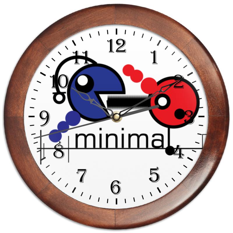 Часы круглые из дерева Printio Минимал