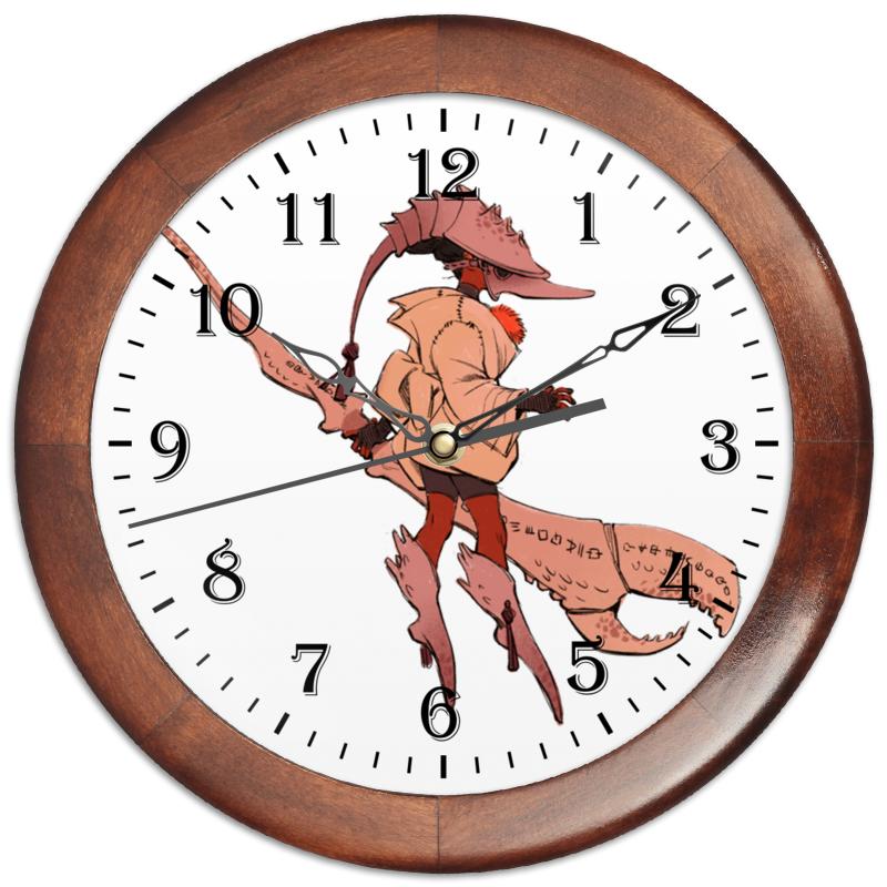 Часы круглые из дерева Printio Знак зодиака рак