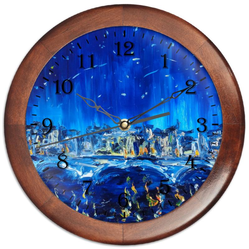 Часы круглые из дерева Printio Аватар чай детский fleur alpine облепиха с липовым цветом с 5 мес 30 г