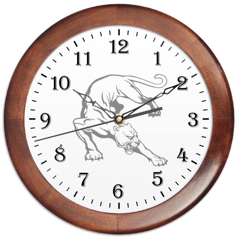 Часы круглые из дерева Printio Часы аналоговые с пантерой часы из дерева для дома