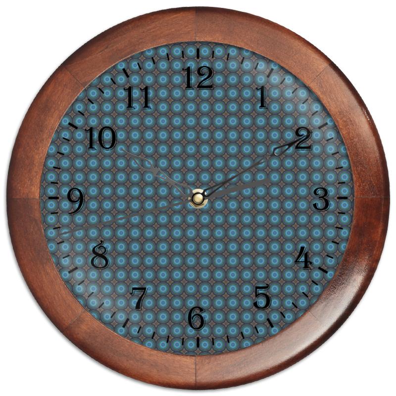 Часы круглые из дерева Printio Detroit