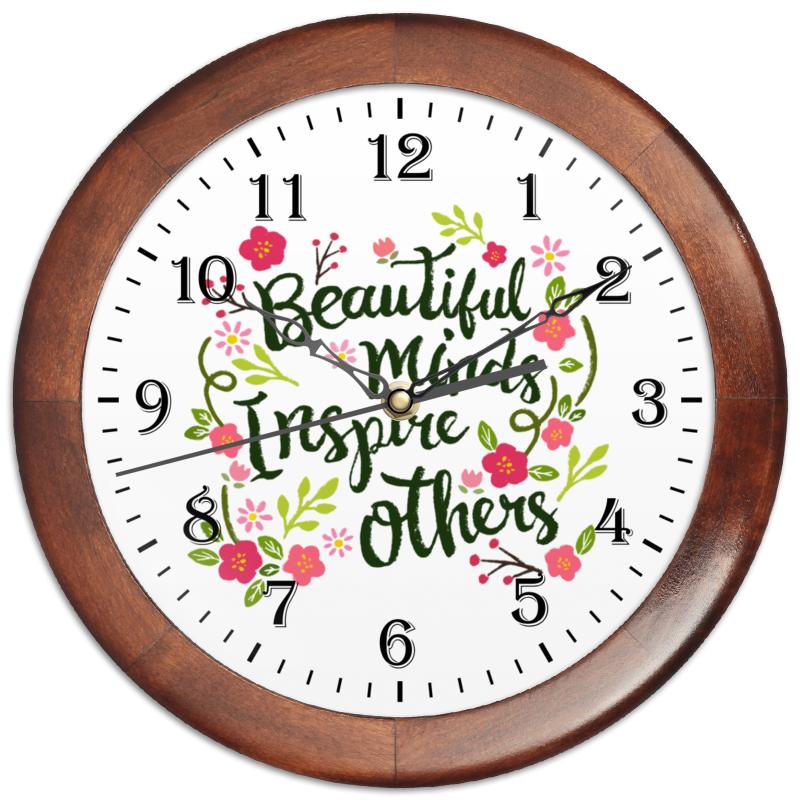Часы круглые из дерева Printio Великолепные мысли вдохновляют других часы круглые из дерева printio кофе тайм coffee time