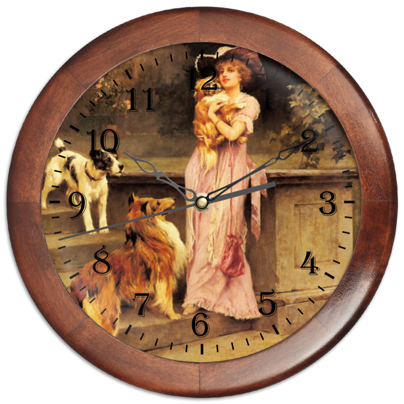 Часы круглые из дерева Printio 2018 год собаки жидкость сливки dior 30ml spf25