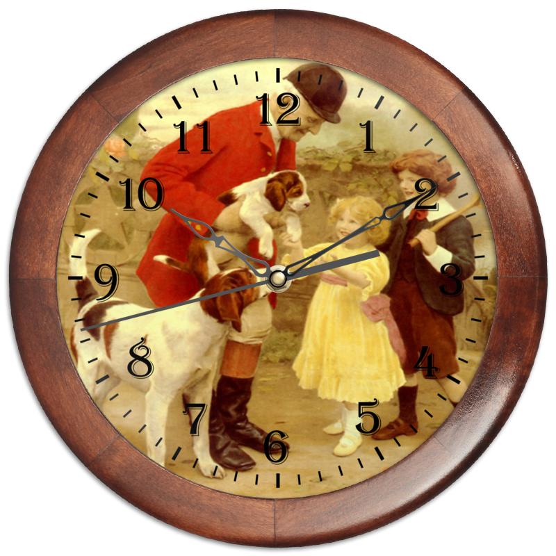 Часы круглые из дерева Printio Собаки егеря часы круглые из дерева printio забавные собаки