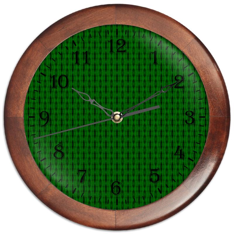 Часы круглые из дерева Printio Machine
