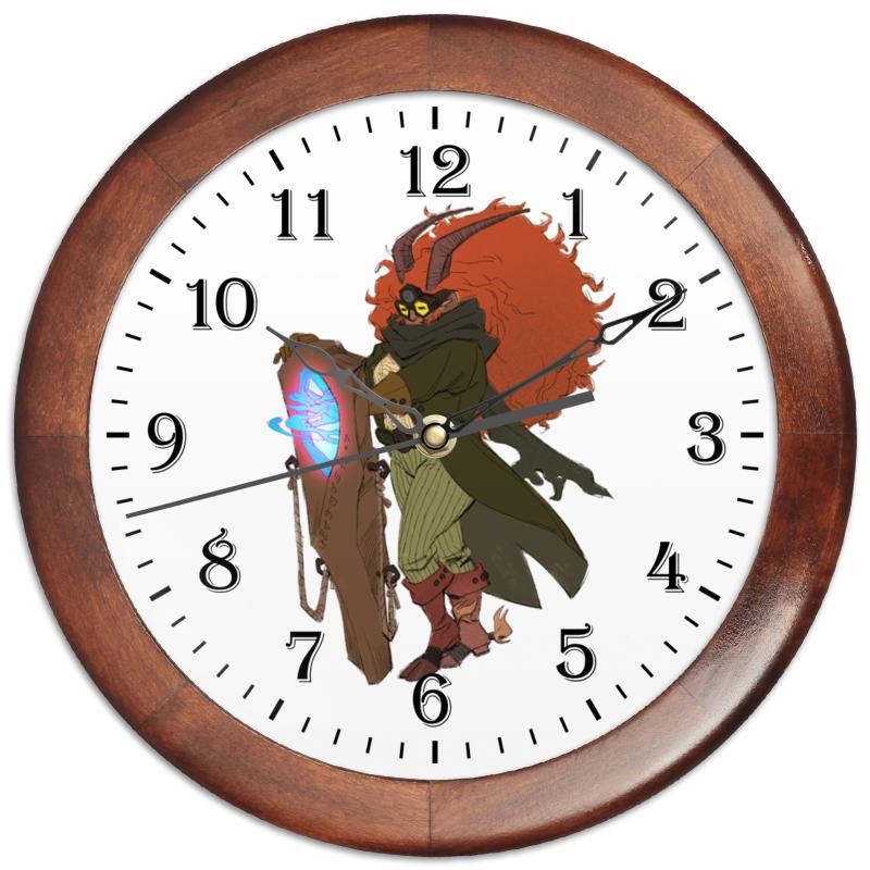 Часы круглые из дерева Printio Знак зодиака козерог